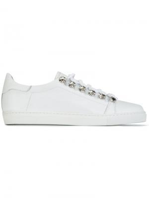 Кеды на шнуровке Toga. Цвет: белый