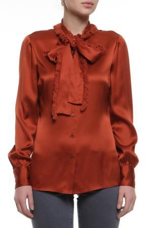 Блуза с воротником Tory Burch. Цвет: красный