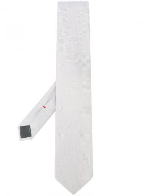 Галстук с вышивкой Delloglio Dell'oglio. Цвет: телесный