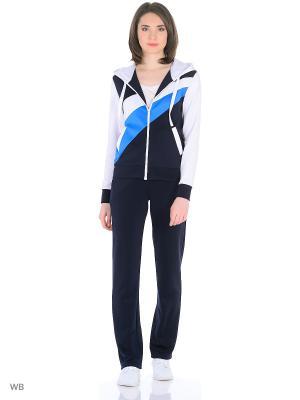 Спортивный костюм FORLIFE. Цвет: темно-синий, голубой, белый