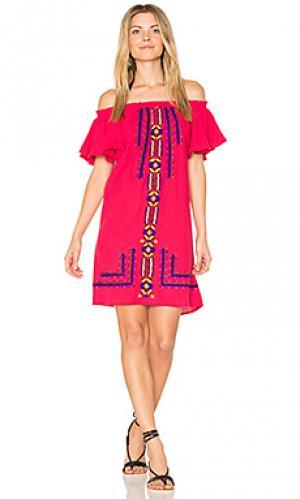 Платье с рюшами sublime PIPER. Цвет: фуксия