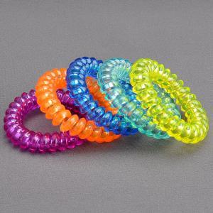 Комплект Резинок-Пружинок для волос 5 шт/уп, арт. РПВ-311 Бусики-Колечки. Цвет: разноцветный