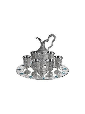 Коньячный набор с дозатором, 8 предметов Elff Ceramics. Цвет: серебристый