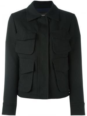 Куртка с карманами Odeeh. Цвет: чёрный