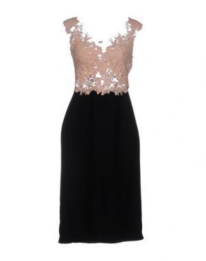Платье до колена RHEA COSTA. Цвет: розовый