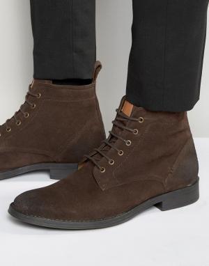 Dead Vintage Коричневые замшевые ботинки со шнуровкой. Цвет: коричневый