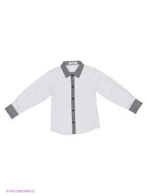Рубашка Born. Цвет: белый, серый
