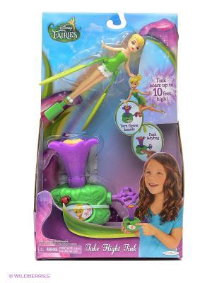 Кукла Дисней Фея 15 см летающая Под Облаками Disney Fairies. Цвет: зеленый