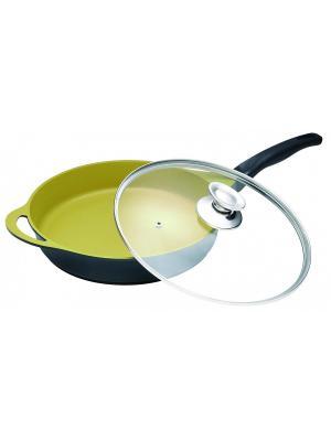Сковорода с керамическим, золотым покрытием, 2,8л Barton Steel. Цвет: черный, золотистый