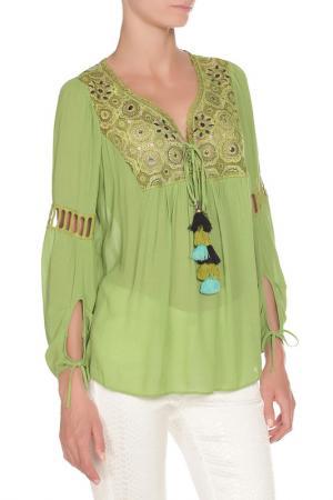 Блуза 22 MAGGIO. Цвет: зеленый