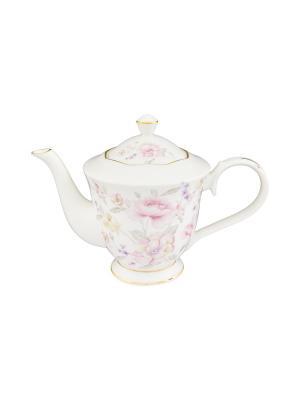 Чайник Жизель Elan Gallery. Цвет: белый, розовый