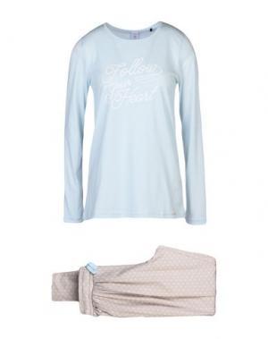 Пижама SKINY. Цвет: небесно-голубой