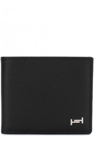 Кожаное портмоне с отделениями для кредитных карт Tod's. Цвет: черный