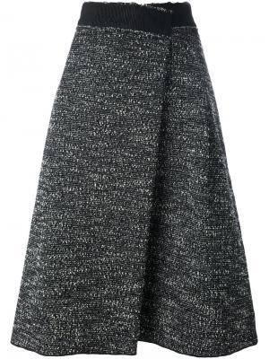 Юбка букле с запахом Marc Jacobs. Цвет: чёрный