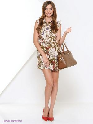 Платье Арт-Деко. Цвет: бежевый