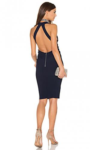Платье холтер winkworth BEC&BRIDGE. Цвет: синий