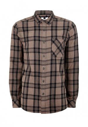 Рубашка Topman. Цвет: коричневый