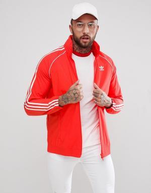 Adidas Originals Красная спортивная куртка adicolor Superstar CW1310. Цвет: красный