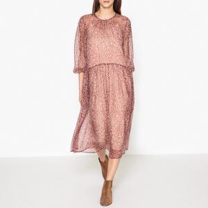 Платье из шелковой ткани HOLMY ATHE VANESSA BRUNO. Цвет: гранатовый