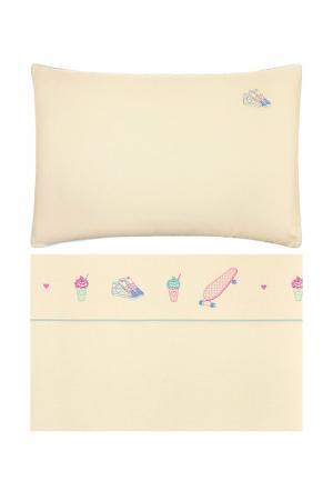 Комплект постельного белья подростковый 1,5-спальный Luxberry. Цвет: бежевый