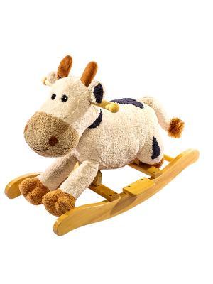 Корова-качалка Toyland. Цвет: темно-бежевый
