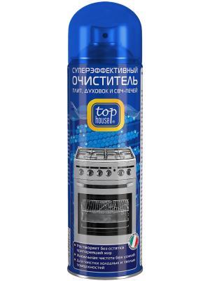 Top house суперэффективный очиститель плит, духовок и СВЧ печей, 500мл, (аэрозоль).. Цвет: синий