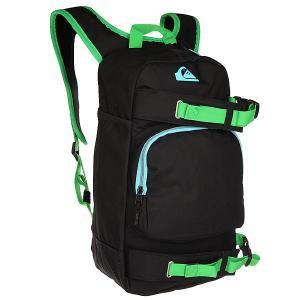 Рюкзак городской  Nitrated Black Quiksilver. Цвет: черный,зеленый,голубой