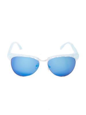 Солнцезащитные очки Mitya Veselkov. Цвет: голубой