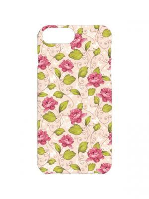 Чехол для iPhone 7Plus Много роз Арт. 7Plus-102 Chocopony. Цвет: розовый