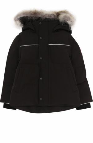 Пуховая куртка Snowy Owl с меховой отделкой на капюшоне Canada Goose. Цвет: черный