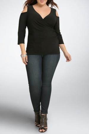 Блузка Exline. Цвет: черный