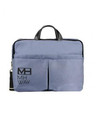Деловые сумки MH WAY. Цвет: грифельно-синий