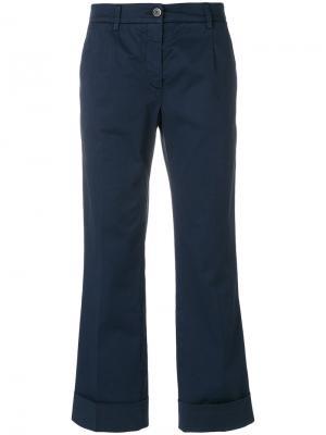 Укороченные брюки с отворотами Fay. Цвет: синий