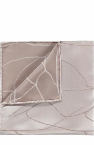 Шелковый платок Giorgio Armani. Цвет: серый