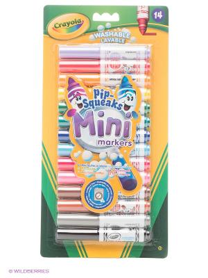 Набор смываемых мини маркеров Crayola. Цвет: желтый