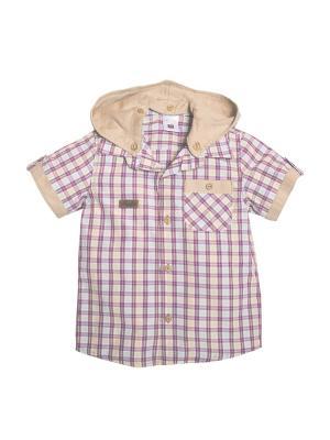 Рубашка для мальчика Bombili. Цвет: сиреневый