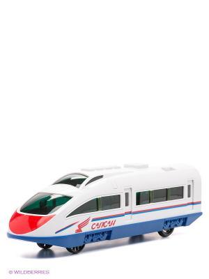Скоростной поезд Сапсан РЖД Технопарк. Цвет: белый, синий