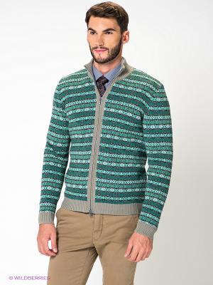 Кофта JB casual. Цвет: зеленый, серо-зеленый