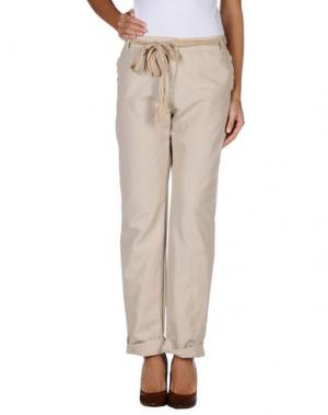 Повседневные брюки AGATHA CRI. Цвет: бежевый
