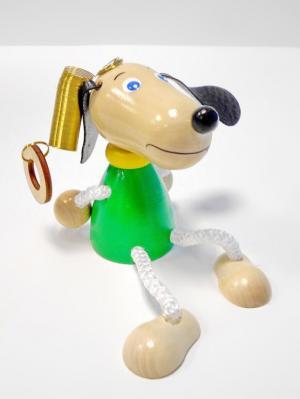 Игрушка подвеска на пружине - Собачка зелёная Taowa. Цвет: зеленый