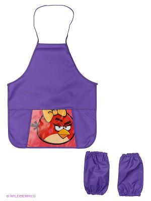 Фартук с карманом и нарукавниками Angry birds Centrum. Цвет: фиолетовый
