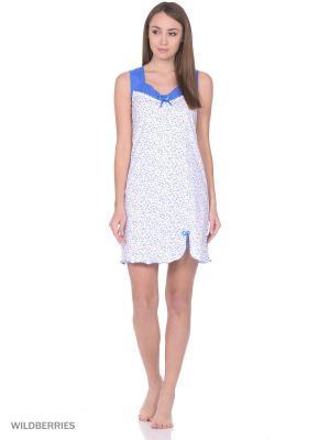 Ночная сорочка HomeLike. Цвет: синий, белый