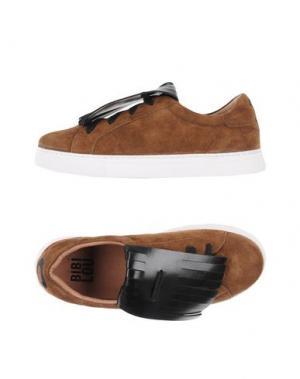 Низкие кеды и кроссовки BIBI LOU. Цвет: коричневый