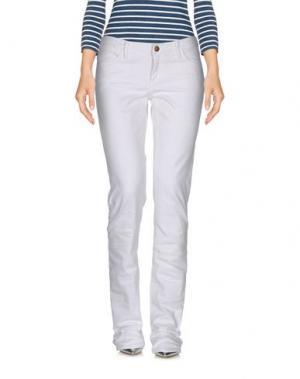 Джинсовые брюки GOLDSIGN. Цвет: белый