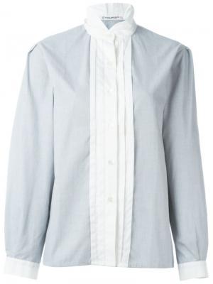 Рубашка с высоким воротником Guy Laroche Vintage. Цвет: серый