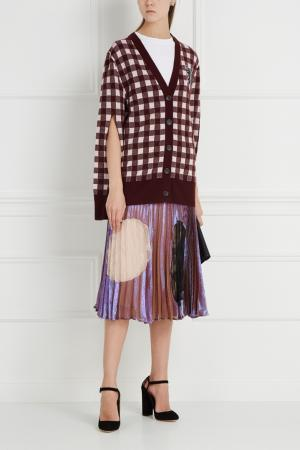 Плиссированная юбка Christopher Kane. Цвет: фиолетовый. красный