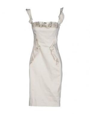 Платье до колена EUREKA. Цвет: светло-серый