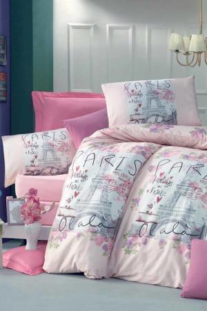 SINGLE COVER SET Victoria. Цвет: pink, white, black, grey