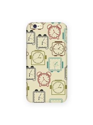 Чехол для IPhone 6 Будильники Mitya Veselkov. Цвет: желтый, синий, красный
