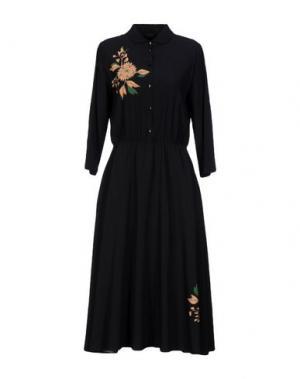 Платье длиной 3/4 POUSTOVIT. Цвет: черный